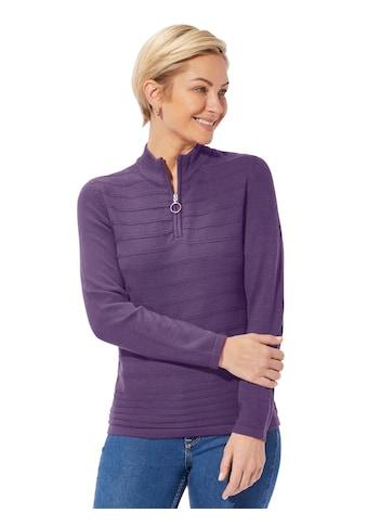 Classic Basics Pullover mit kurzem Reissverschluss und Anhänger kaufen