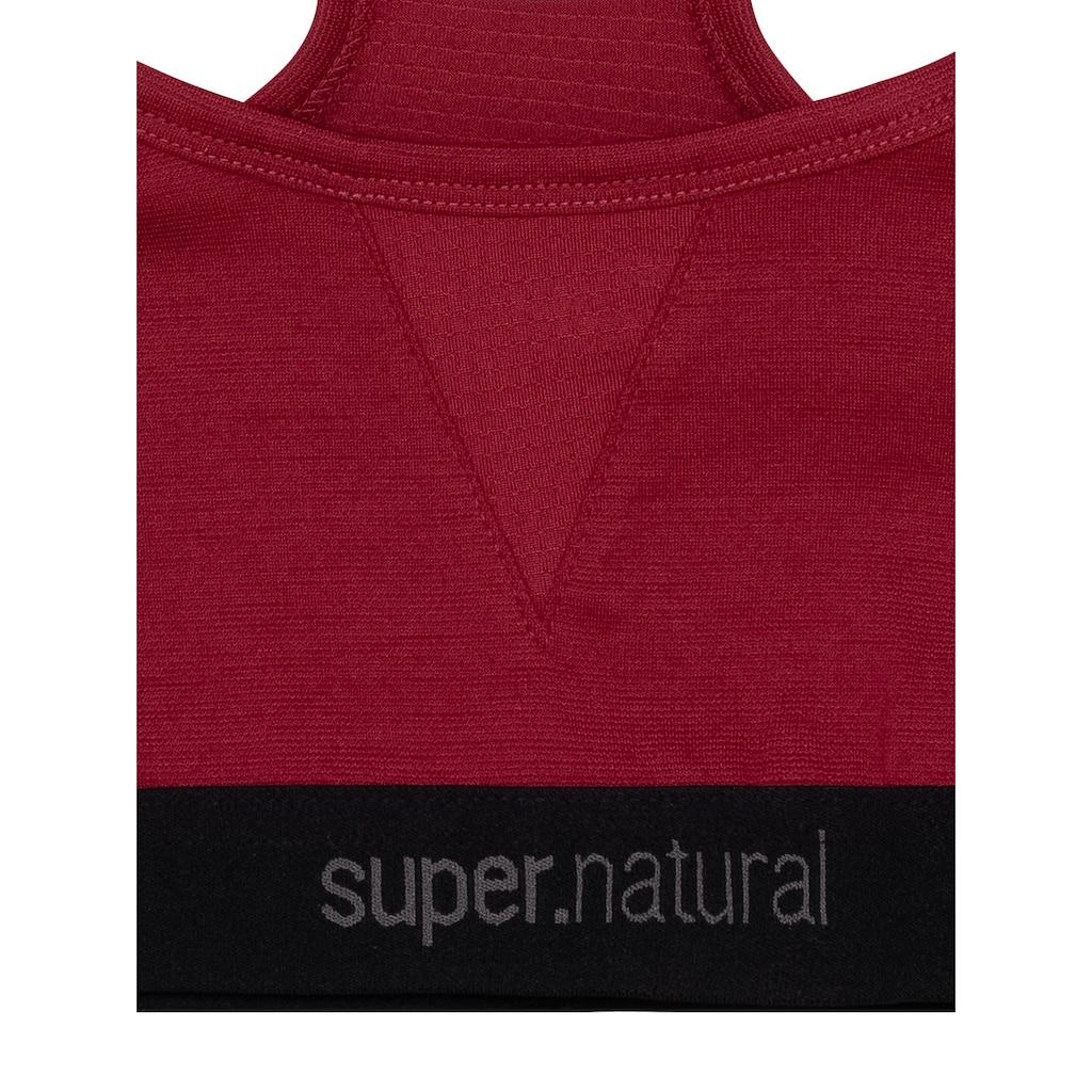 SUPER.NATURAL Sport-BH »W SEMPLICE BRA 220«, funktioneller Merino-Materialmix