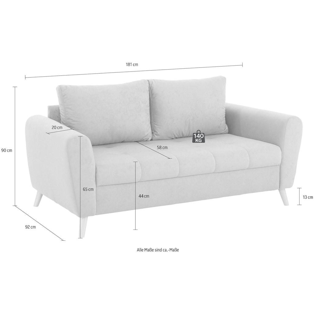 Home affaire 2,5-Sitzer »Blackburn Luxus«, mit besonders hochwertiger Polsterung für bis zu 140 kg pro Sitzfläche