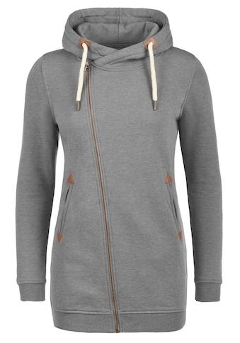 DESIRES Kapuzensweatjacke »Vicky Zip Hood Long«, Sweatshirtjacke mit asymmetrischen Reissverschluss kaufen