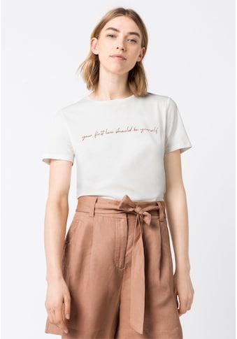 HALLHUBER T - Shirt »T - Shirt aus Bio - Baumwolle« kaufen