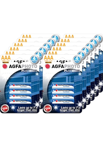 AgfaPhoto Batterie »Batterie Alkaline, Micro, AAA, LR03, 1.5V, Platinum, Karton... kaufen