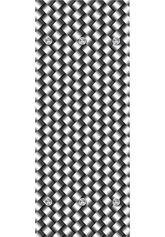 queence Garderobenpaneel »Flechtmuster«, mit 6 Haken, 50 x 120 cm kaufen