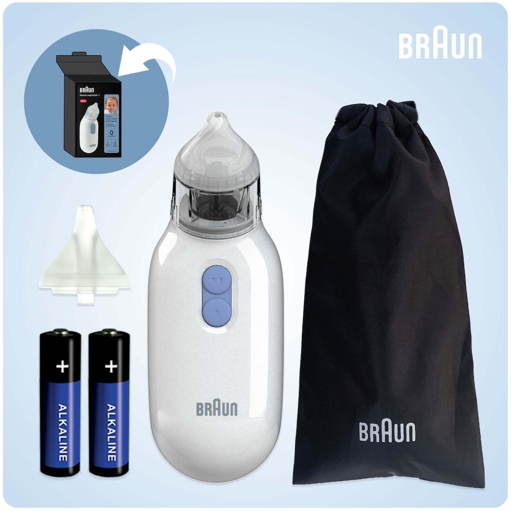 Braun Nasensauger »BNA100EU«, befreit verstopfte Nasen schnell und sanft