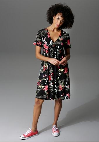 Aniston CASUAL Sommerkleid, im Millefleurs oder grossflächigen Blumendruck - schick... kaufen