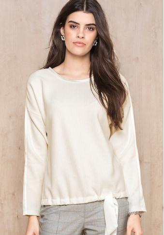 bianca Langarmshirt »LENITA«, im cleanen Look mit Bindedetail kaufen