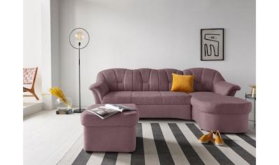 DOMO collection Ecksofa »Papenburg«, in grosser Farbvielfalt, wahlweise mit Bettfunktion kaufen