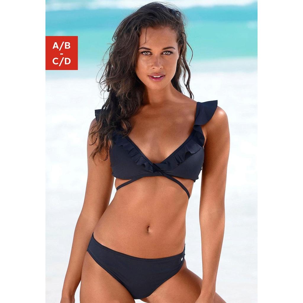 s.Oliver Triangel-Bikini, Rüschen am Top