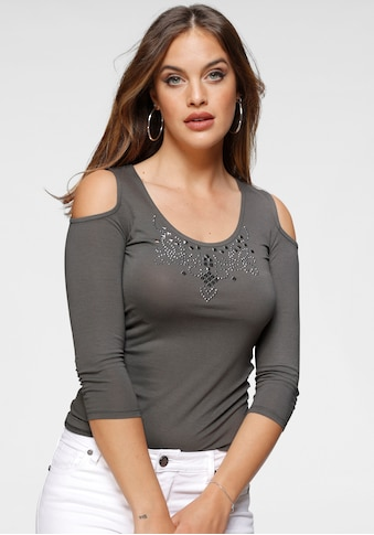 Melrose Rundhalsshirt, mit dekorativen Ziernieten kaufen