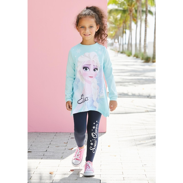 Disney Frozen Langarmshirt & Leggings »Elsa«
