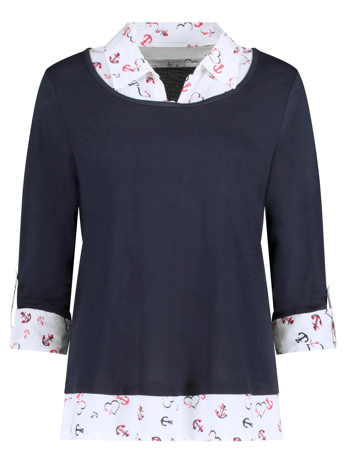 Image of Ambria Shirt in modernem 2-in-1-Look