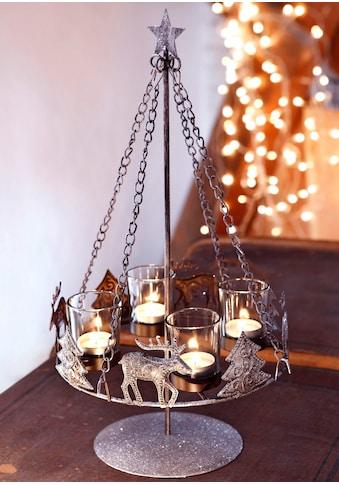 Home affaire Adventsleuchter, Metall, inkl. 4 Glaswindlichtern kaufen