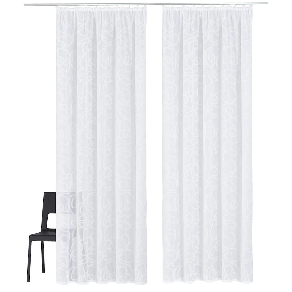 my home Gardine »Tanaro«, Vorhang, Fertiggardine, transparent
