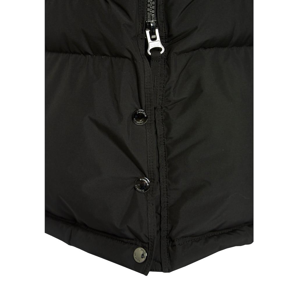 DANWEAR Black Label Daunenjacke, im Basic-Style mit kontrastfarbenem Riegel am Kragen