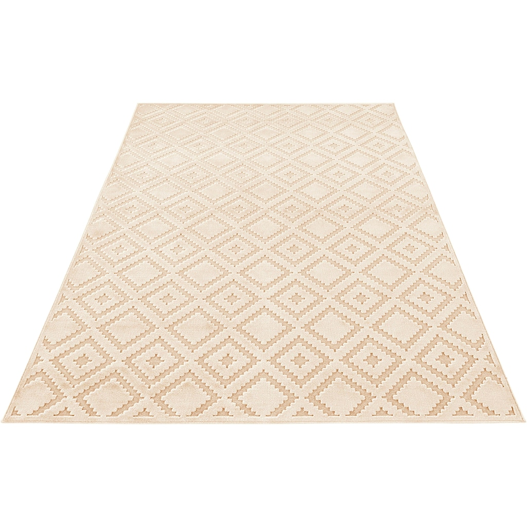 MINT RUGS Teppich »Iris«, rechteckig, 4 mm Höhe, Hoch-Tief-Effekt, Wohnzimmer