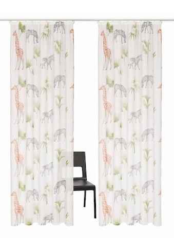 my home Gardine »Zoo«, Vorhang, Fertiggardine, halbtransparent kaufen