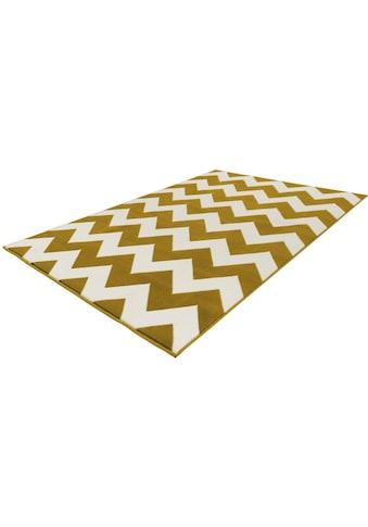 Kayoom Teppich »Manolya 2095«, rechteckig, 10 mm Höhe, Zickzack-Muster kaufen