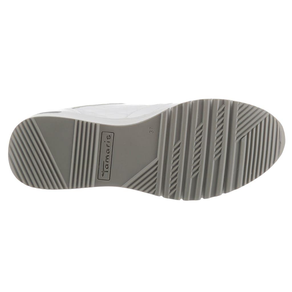 Tamaris Wedgesneaker »Rea«, mit schönen Metallic-Details