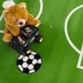 Sanat Kinderteppich »Bambino 2108«, rechteckig, 12 mm Höhe, Fussball Motiv, Kurzflor