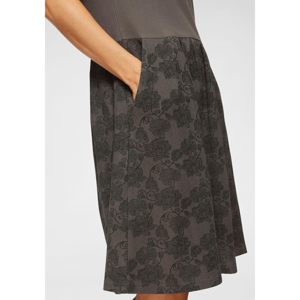 Boysen's Sweatkleid, mit bedrucktem Rockteil & Seitentaschen