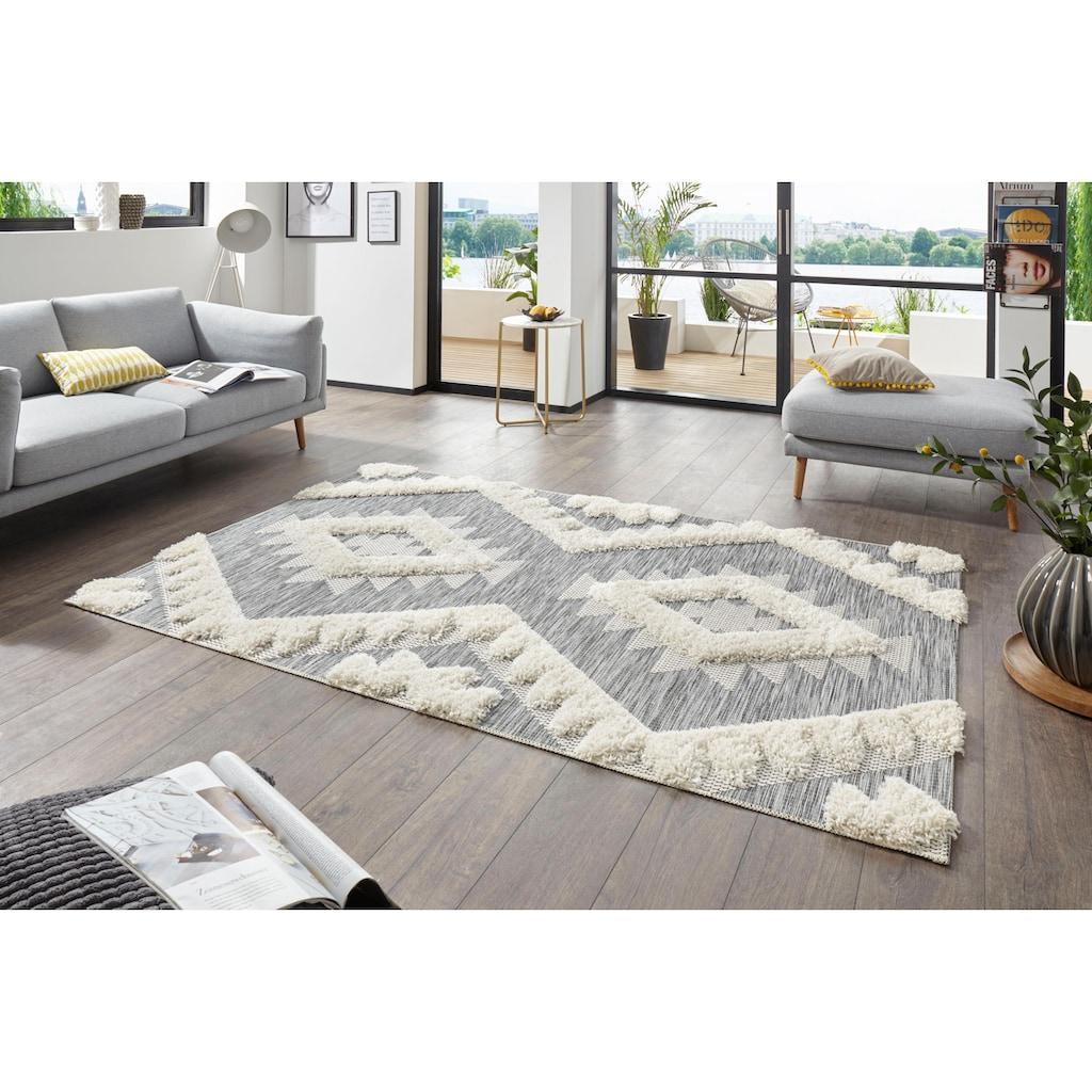 MINT RUGS Teppich »Tiddas«, rechteckig, 35 mm Höhe, In- und Outdoor geeignet, Hoch-Tief-Struktur, Wohnzimmer