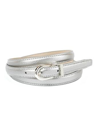 Anthoni Crown Ledergürtel, in schmaler Form, glänzende Oberfläche kaufen