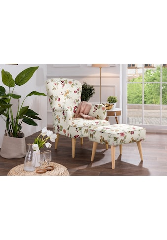Max Winzer® Sessel »Lale«, dekorative Zierknöpfe und umlaufende Kedernähte kaufen