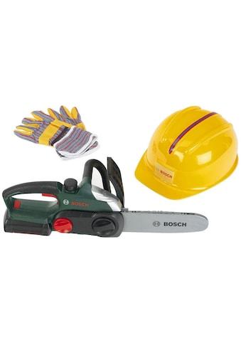 Spielwerkzeug »Bosch Kettensäge mit Helm und Handschuhe«, (Set) kaufen