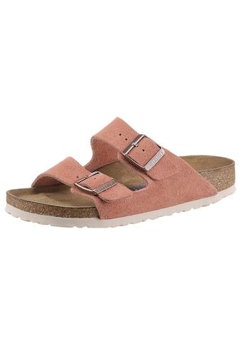 Birkenstock Pantolette »Arizona Suede SFB«, aus Veloursleder, schmale Schuhweite kaufen