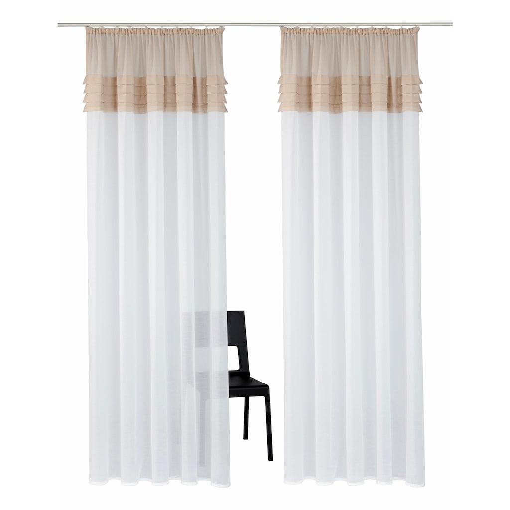 Home affaire Gardine »Gander«, Vorhang, Fertiggardine, halbtransparent