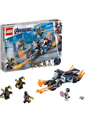 "LEGO® Konstruktionsspielsteine ""Captain America: Outrider Attacke (76123), LEGO® Marvel Super Heroes™"", Kunststoff, (167 - tlg.) kaufen"