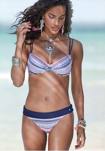 s.Oliver Bikini-Hose »Barcelona«, mit Umschlagbund in Kontrastfarbe kaufen