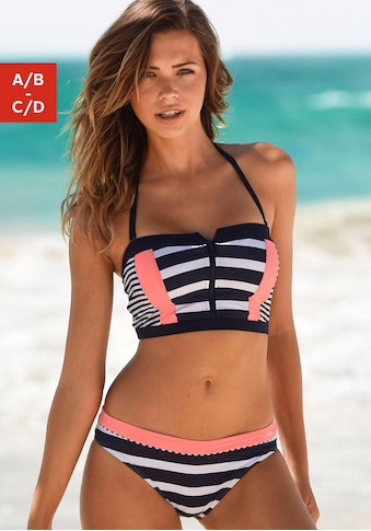 KangaROOS Bustier-Bikini-Top »Anita«, mit Reissverschluss kaufen