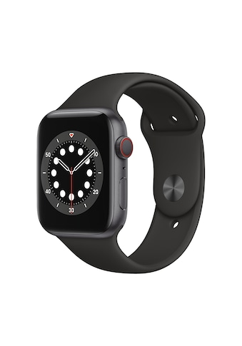 Apple Smartwatch »Serie 6, GPS Cellular, 44 mm Aluminium-Gehäuse mit Sportarmband«,... kaufen