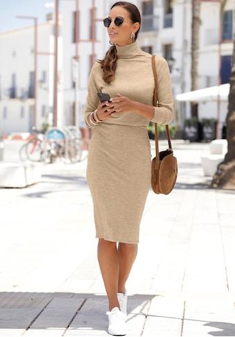 LASCANA Strickkleid, mit Rollkragen kaufen