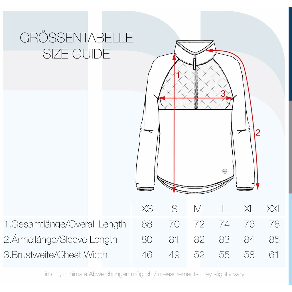 OXMO Kapuzensweatjacke »Malita«, Fleece Übergangsjacke mit Stepp-Detail