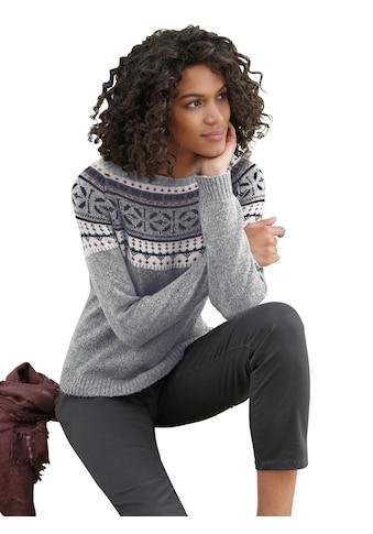 Casual Looks Pullover mit hübschem Norwegermuster kaufen