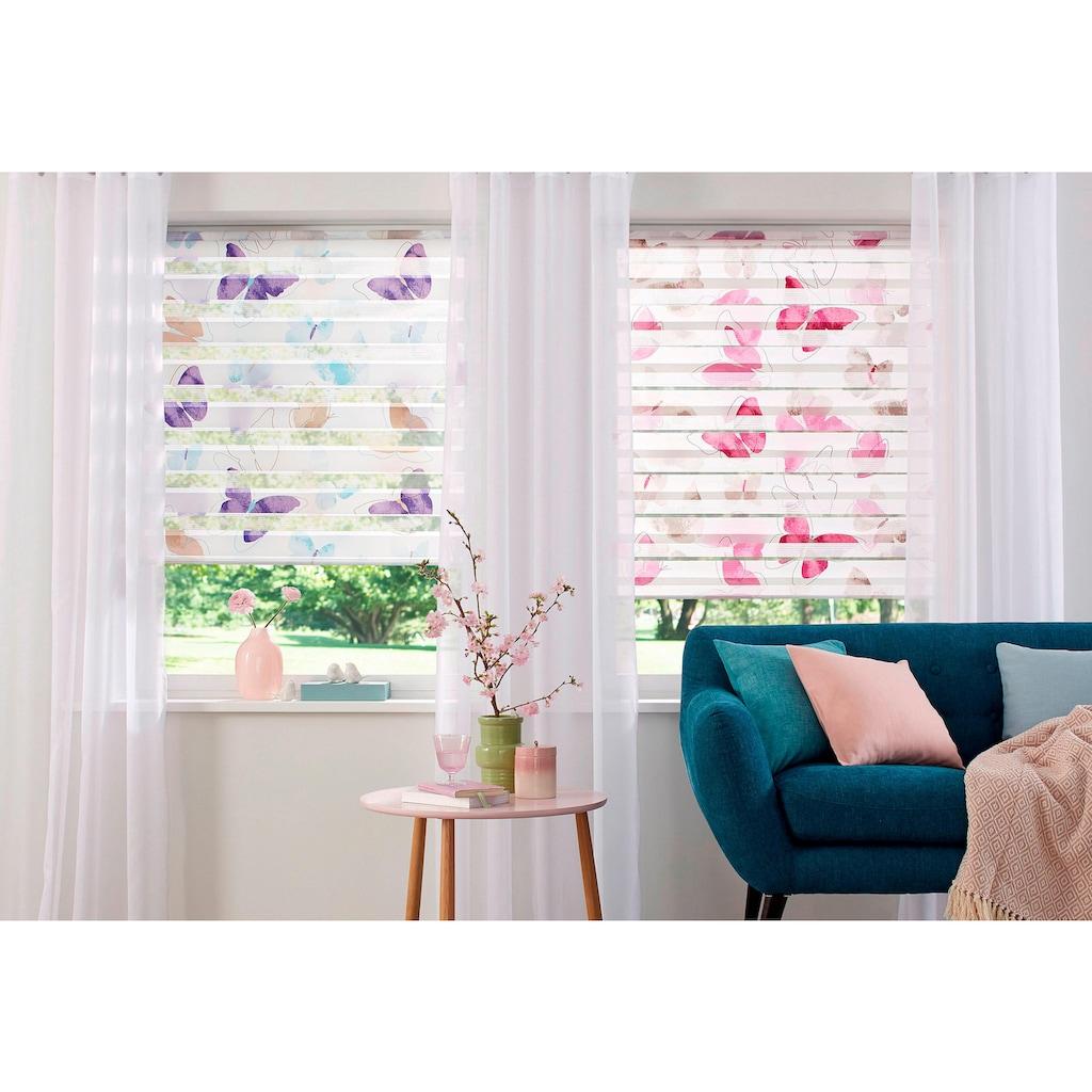 my home Doppelrollo »Santo«, Lichtschutz, ohne Bohren, freihängend, im Fixmass