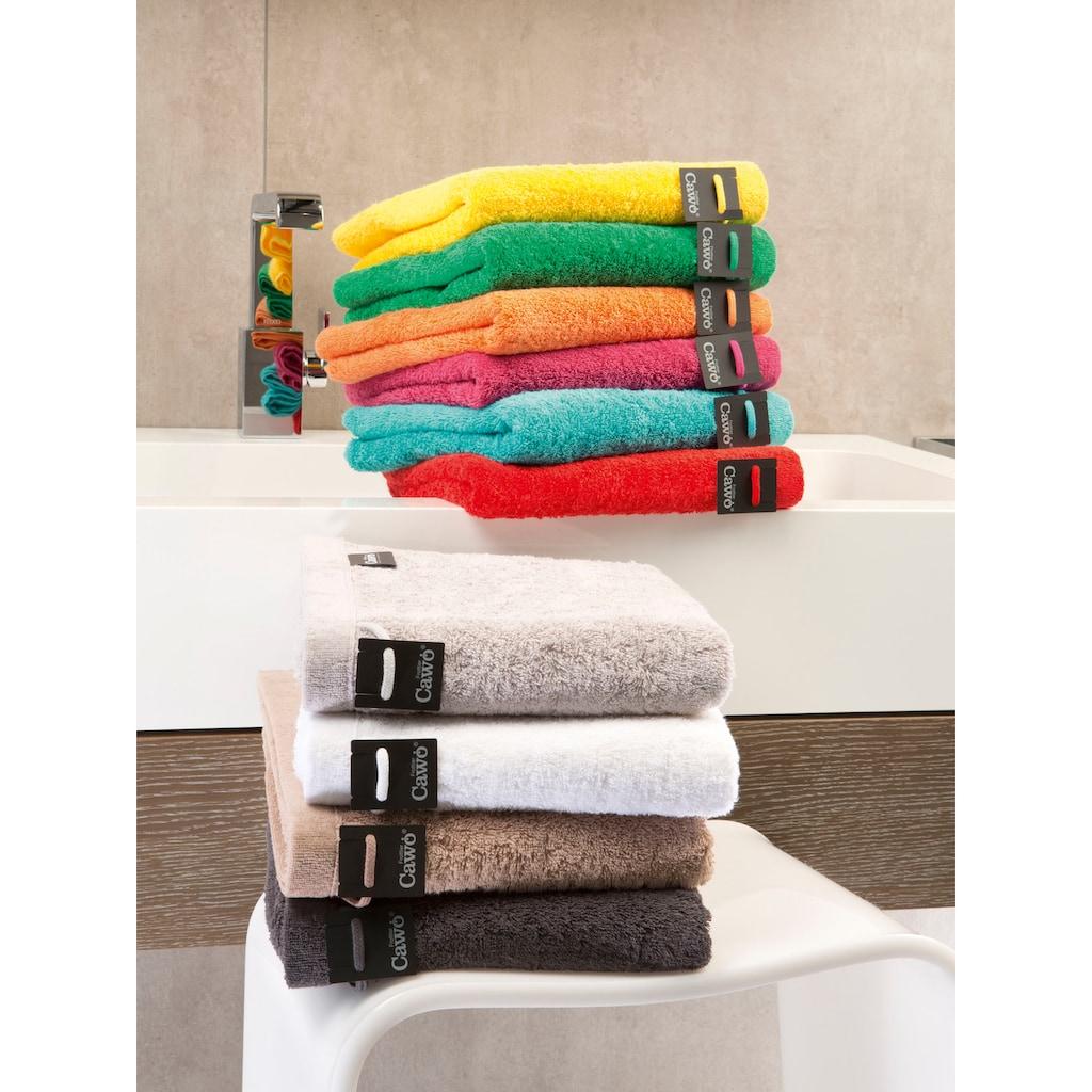 Cawö Badetuch »Lifestyle Uni«, (1 St.), aus 100% Baumwolle