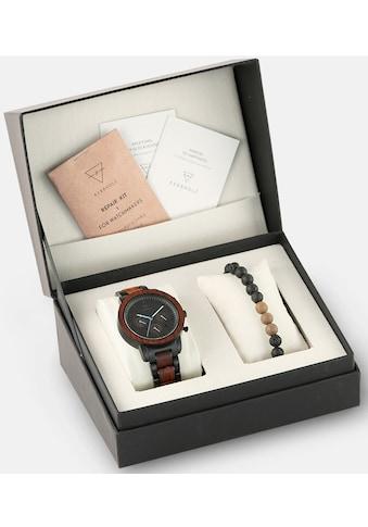 KERBHOLZ Chronograph »Maximilian Rosewood, XMAS-SET«, (Set, 2 tlg., mit einem trendigen Holzarmband) kaufen