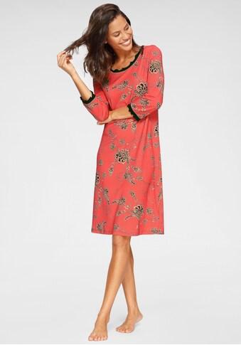 Cybèle Nachthemd, im Blumenmuster mit gekräuselten Kanten kaufen