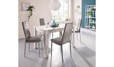 my home Essgruppe, (Set, 5 tlg.), mit Esstisch »Lynn«, Breite 120 cm und 4 x Stuhl »Kate« kaufen