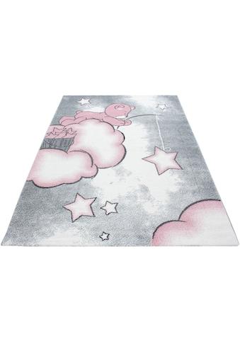 Ayyildiz Kinderteppich »Kids 580«, rechteckig, 12 mm Höhe, Teddybär, Sterne Design, Kurzflor kaufen