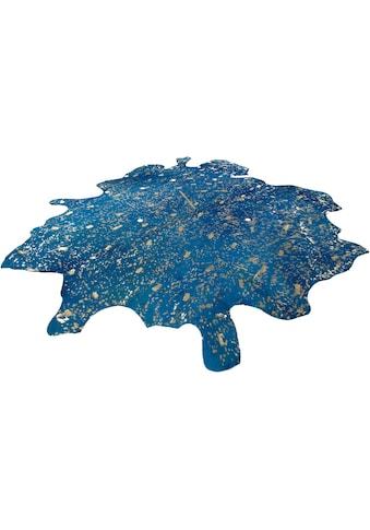 calo-deluxe Fellteppich »Ronda 510«, fellförmig, 8 mm Höhe, echtes gefärbtes Rinderfell, Wohnzimmer kaufen