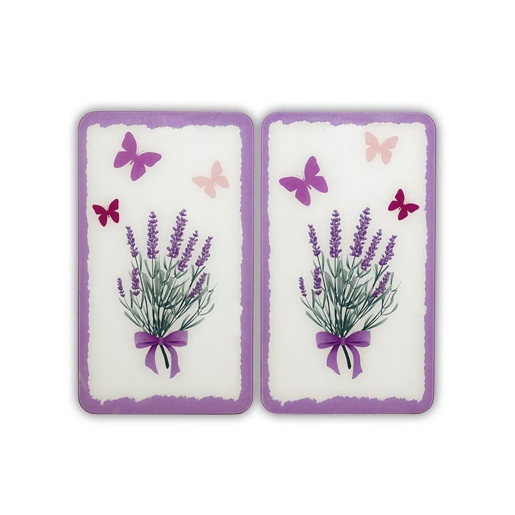 WENKO Herd-Abdeckplatte »Lavendel-Bouquet«, kratzfest