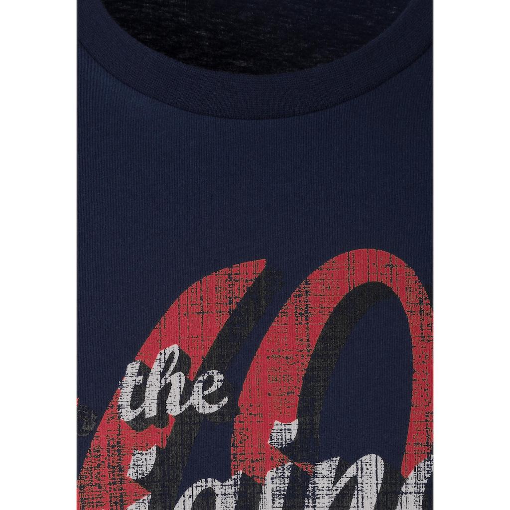 s.Oliver Bodywear T-Shirt, mit Logo Print vorn