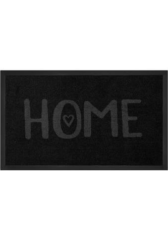 HANSE Home Fussmatte »Lovely Home«, rechteckig, 5 mm Höhe, Fussabstreifer, Fussabtreter, Schmutzfangläufer, Schmutzfangmatte, Schmutzfangteppich, Schmutzmatte, Türmatte, Türvorleger, mit Spruch, In- und Outdoor geeignet, waschbar kaufen