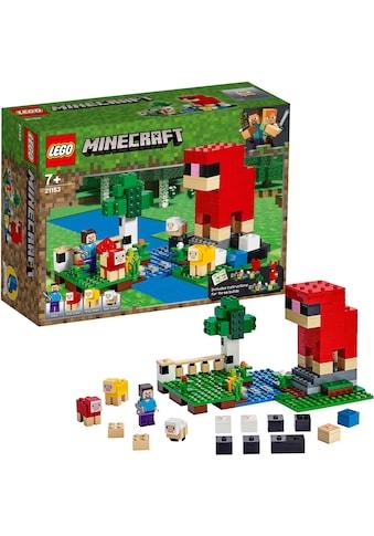 LEGO® Konstruktionsspielsteine »Die Schaffarm (21153), LEGO® Minecraft™«, (260 St.), Made in Europe kaufen
