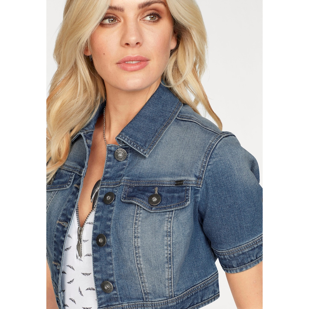 Arizona Jeansjacke, in extra kurzer Form