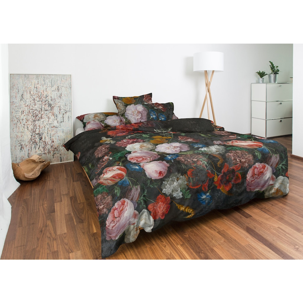 Nobilium Bettbezug »Mirandola mit floralem Dessin«, (1 St.), verdeckter Reissverschluss